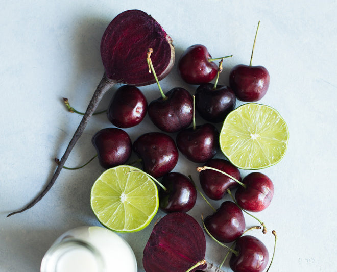 How to make cherry lime red beet smoothie
