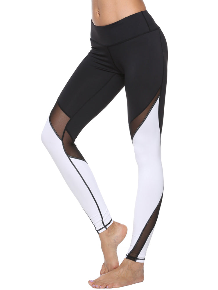 Black x White Yoga Pants - dh Garment