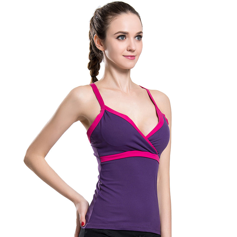 Quick Dry Purple Tank - dh Garment