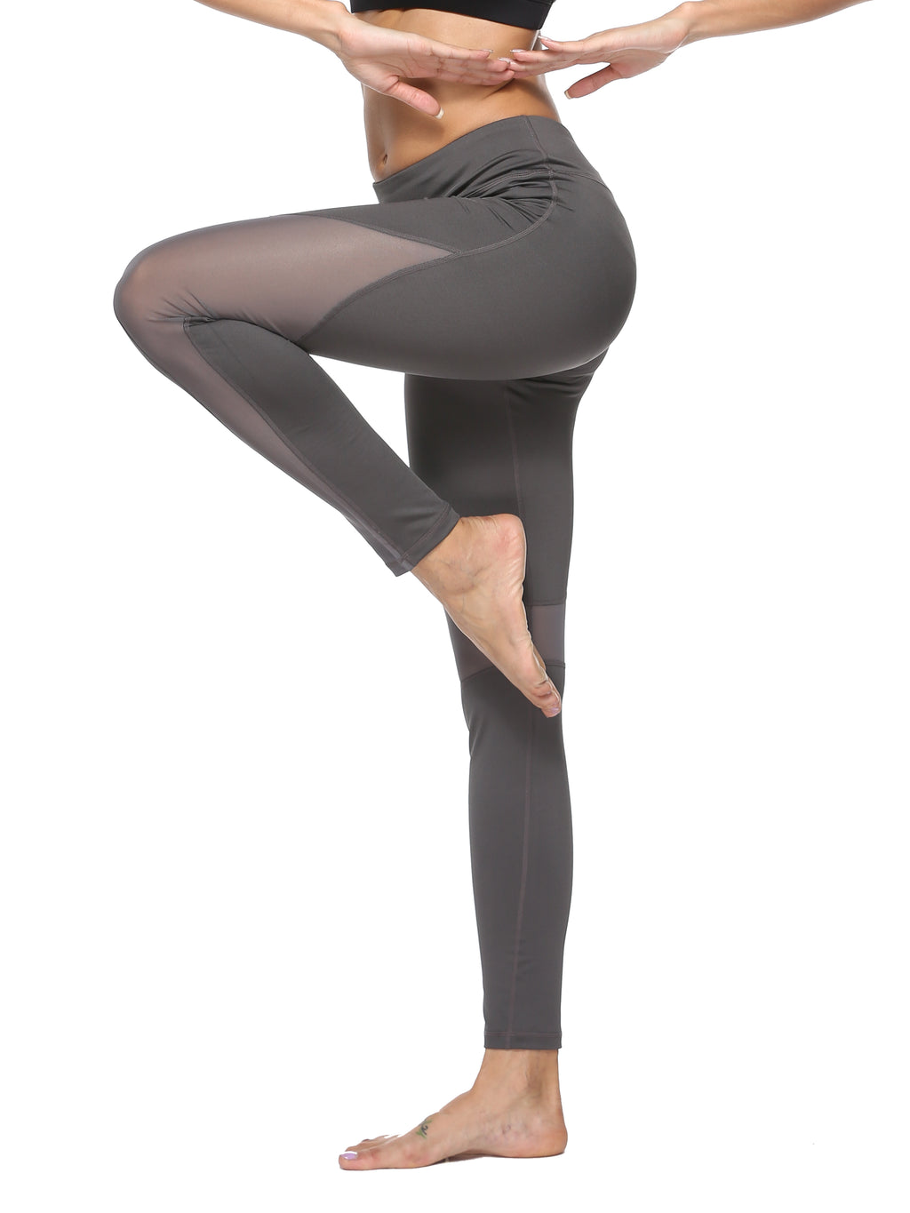 Grey Mesh Leggings - dh Garment