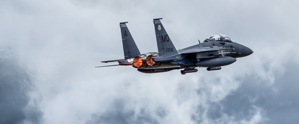 "F-15SG Strike Eagle Take Off with burners 72"" x 30"" Giant Image Wall Art"