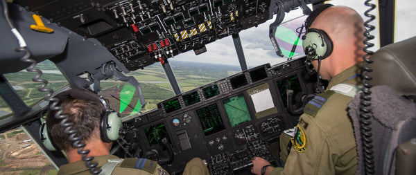 "C-130J Super Hercules Cockpit 72"" x 30"" Giant Image Wall Art"