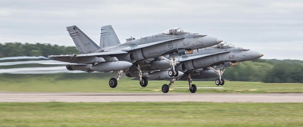 "CF-18 Hornet 2 Ship Take Off 72"" x 30"" Giant Image Wall Art"