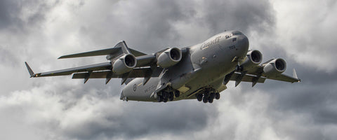 "C-17 Globemaster III On Approach 72"" x 30"" Giant Image Wall Art"