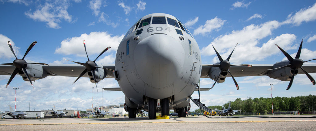 "C-130J Super Hercules Head On 72"" x 30"" Giant Image Wall Art"