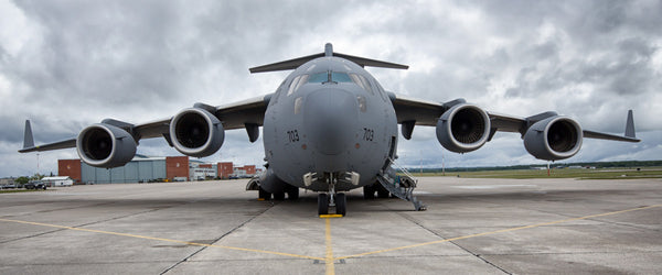 "C-17 Globemaster III Head On 72"" x 30"" Giant Image Wall Art"
