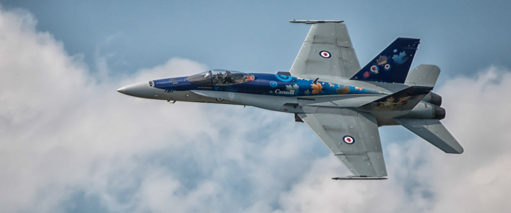 "2014 CF-18 Hornet Demo Jet Fly By 72"" x 30"" Giant Image Wall Art"