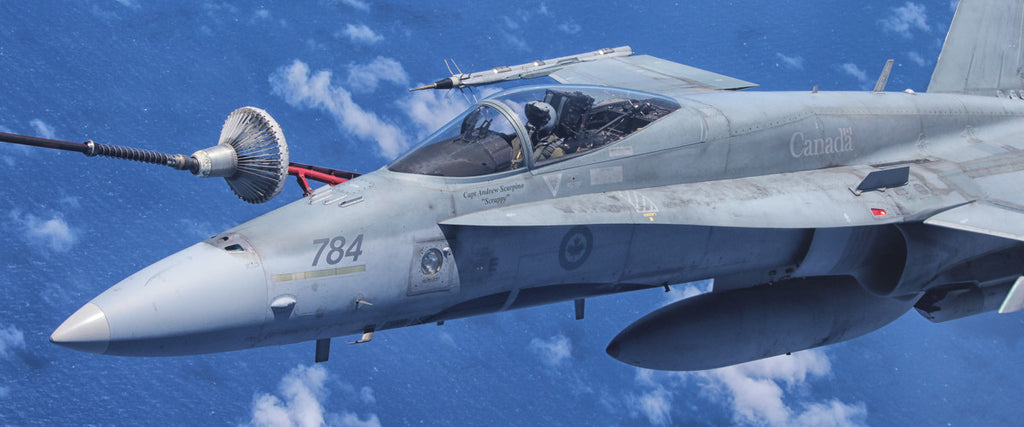 "CF-18 Hornet Refueling 72"" x 30"" Giant Image Wall Art"