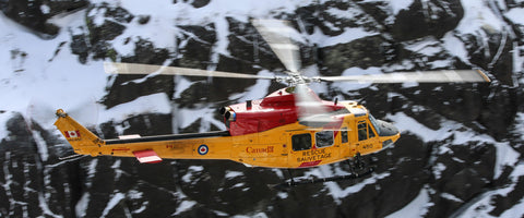 "CH-146 Griffon SAR Helicopter Over Laurentians 72"" x 30"" Giant Image Wall Art"