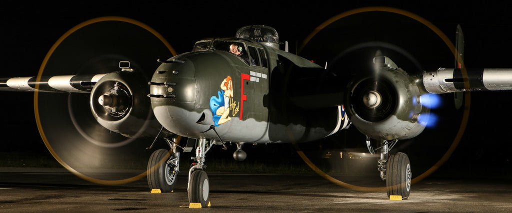 """Hot Gen"" B-25 Mitchell Bomber 72"" x 30"" Giant Image Wall Art"