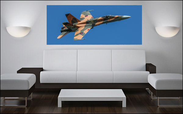 "2015 CF-18 Demo Jet 72"" x 30"" Giant Image Wall Art"