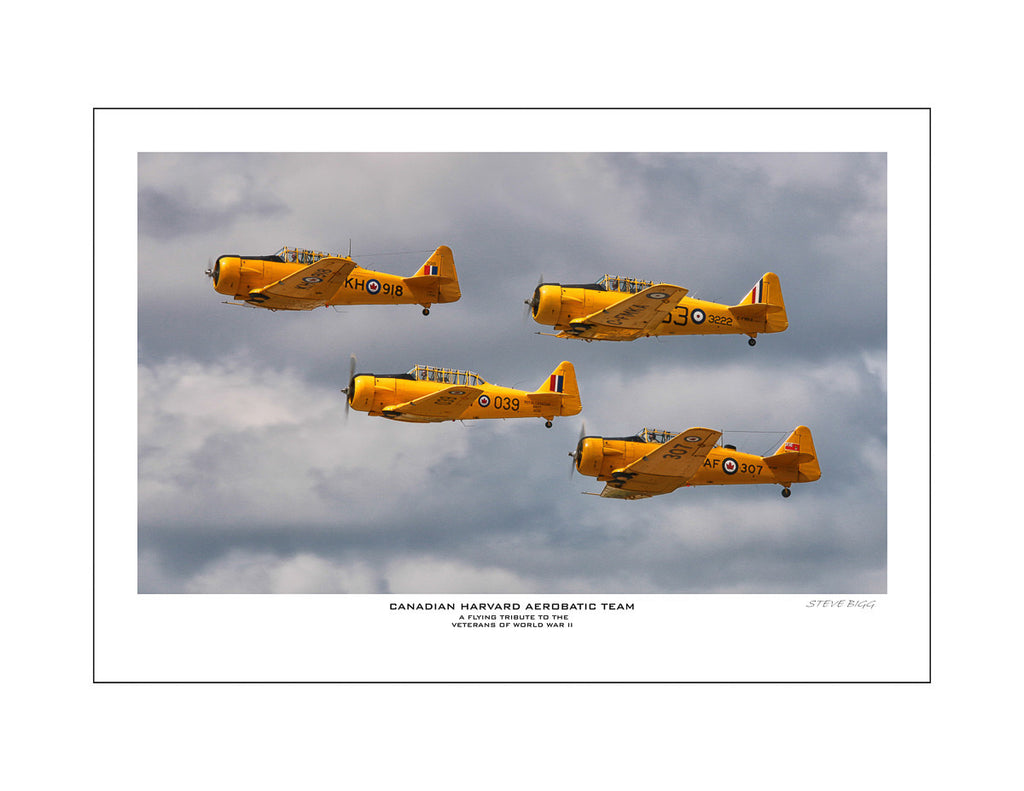 """Canadian Harvard Aerobatic Team"" Fine Art Aviation Print"