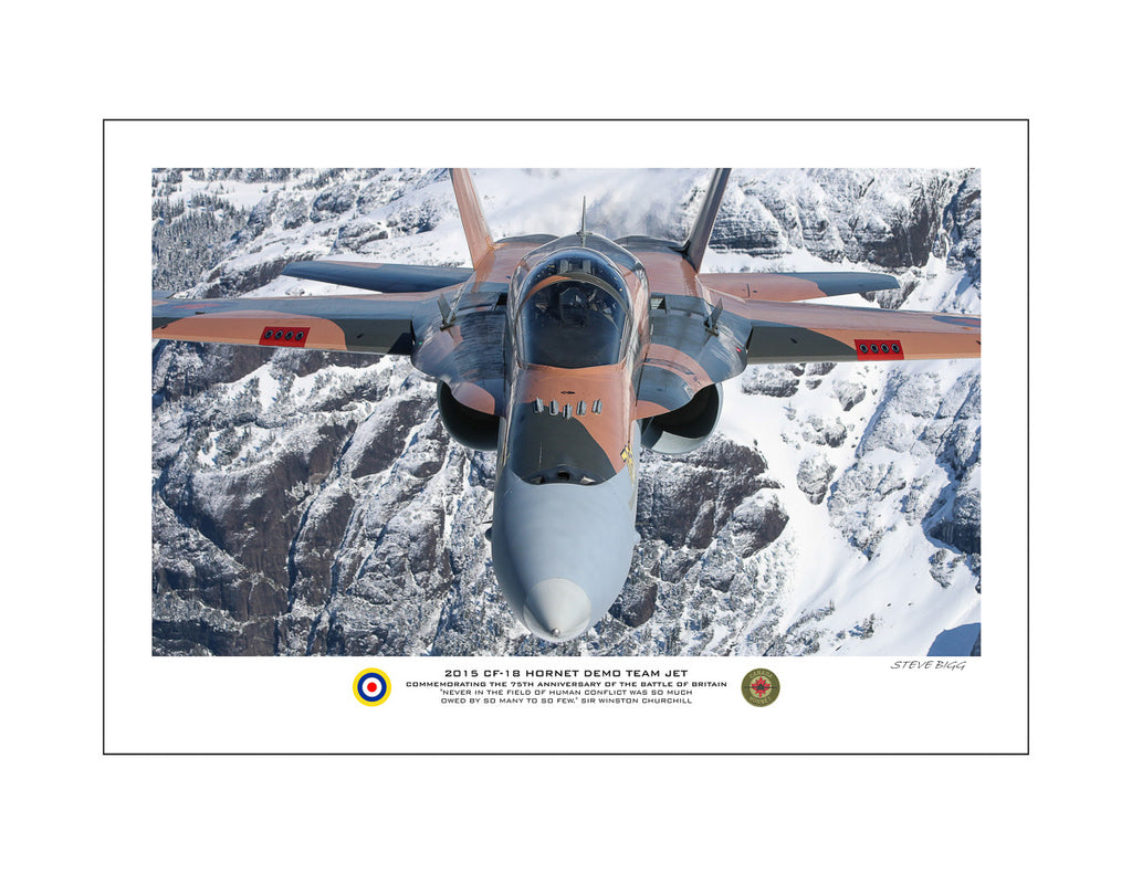 """2015 CF-18 Hornet Demo Team Jet"" Fine Art Aviation Print (Version A)"