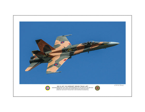 """2015 CF-18 Hornet Demo Team Jet"" Fine Art Aviation Print (Version B)"