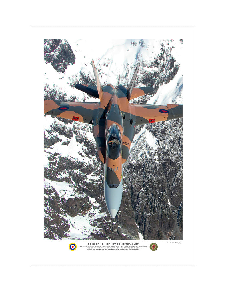 """2015 CF-18 Hornet Demo Team Jet"" Fine Art Aviation Print (Version C)"