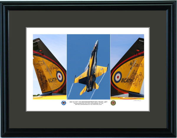 """2016 CF-18 Demonstration Team Jet"" Fine Art Aviation Print (Version A)"