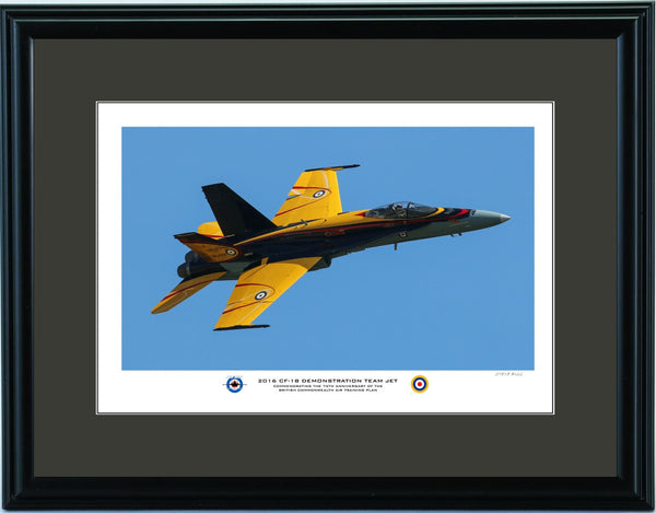 """2016 CF-18 Demonstration Team Jet"" Fine Art Aviation Print (Version C)"