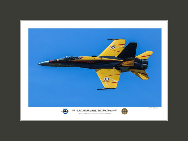 """2016 CF-18 Demonstration Team Jet"" Fine Art Aviation Print (Version B)"