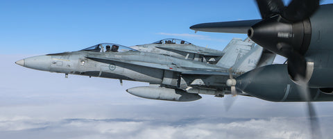 "CF-18's Ready to Fight 72"" x 30"" Giant Image Wall Art"