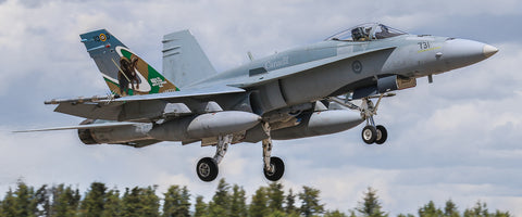 "RCAF 401 Squadron CF-18 72"" x 30"" Giant Image Wall Art"