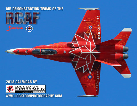 "Air Demonstration Teams of the RCAF: 2018 Giant 14.5"" X 23""  Wall Calendar"