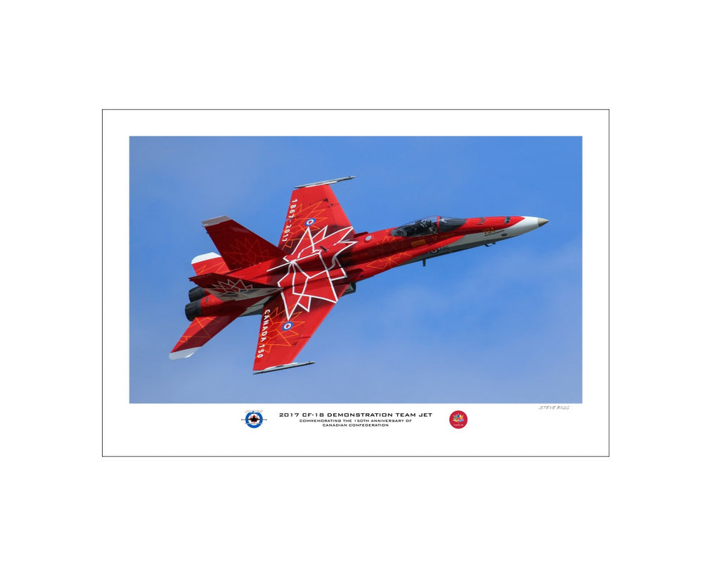 """2017 CF-18 Hornet Demo Team Jet"" Fine Art Aviation Print (Version A)"