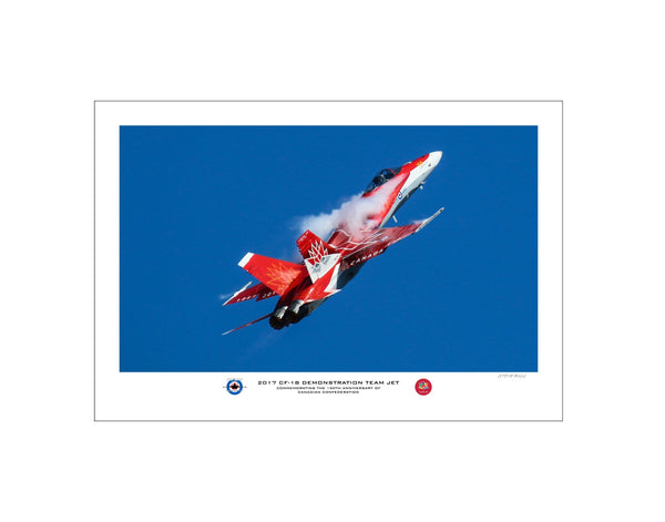 """2017 CF-18 Hornet Demo Team Jet"" Fine Art Aviation Print (Version B)"