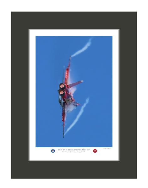 """2017 CF-18 Hornet Demo Team Jet"" Fine Art Aviation Print (Version C)"