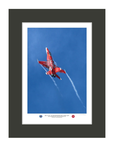 """2017 CF-18 Hornet Demo Team Jet"" Fine Art Aviation Print (Version D)"