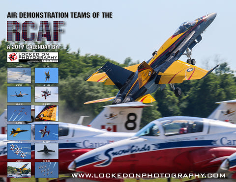 ON SALE! JUST $17.25: Air Demonstration Teams of the RCAF: 2017 A Photo Wall Calendar
