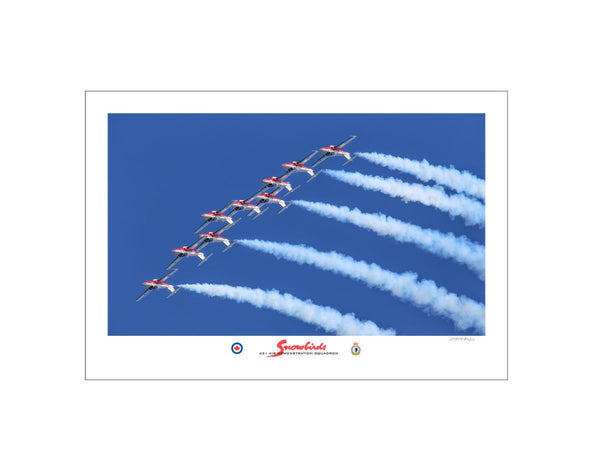 """2017 Snowbirds"" Fine Art Aviation Print"