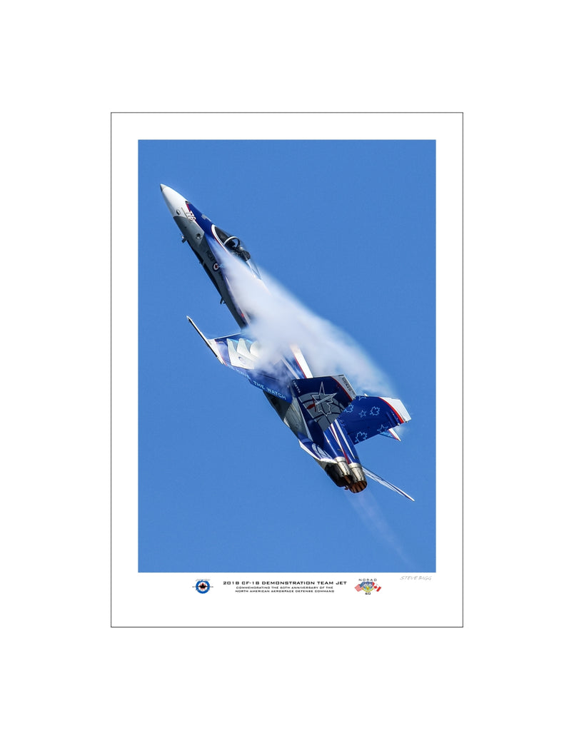 "2018 CF-18 Demo Team ""NORAD 60"" Jet Portrait Fine Art Aviation Print"