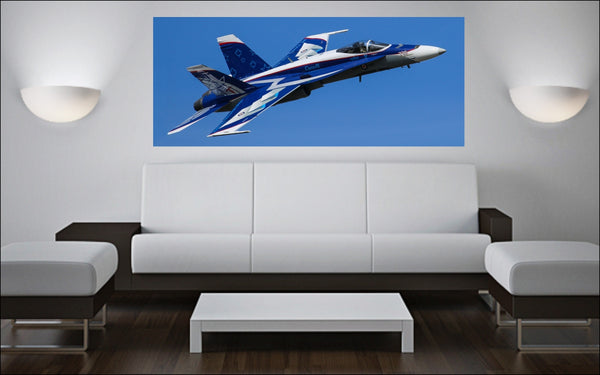 "2018 CF-18 Demo Team NORAD 60th Anniversary 72"" x 30"" Giant Image Wall Art"