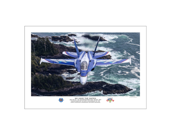 "2018 CF-18 Demo Team Jet ""We Have The Watch"" Fine Art Aviation Print"
