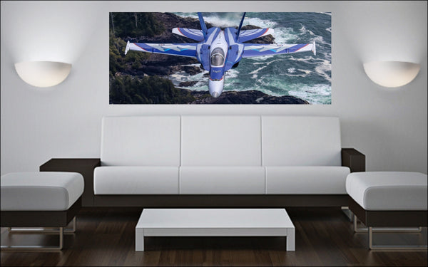 "2018 NORAD 60th Anniversary CF-18 Hornet 72"" x 30"" Giant Image Wall Art"