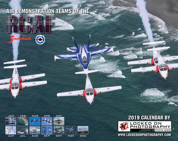 "Giant 14.5"" X 23""  Wall Calendar ""Air Demonstration Teams of the RCAF: 2019"""