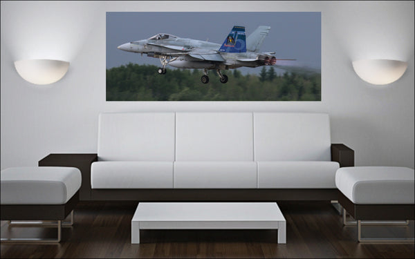 "409 Squadron CF-18 Hornet 72"" x 30"" Giant Image Wall Art"