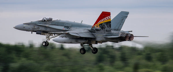 "410 Squadron CF-18 Hornet 72"" x 30"" Giant Image Wall Art"