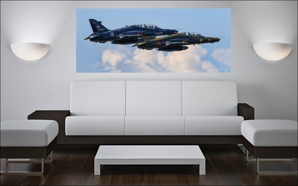 "419 Squadron CT-155 Hawks 72"" x 30"" Giant Image Wall Art"