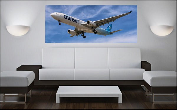 "Airbus A-330 72"" x 30"" Giant Image Wall Art"