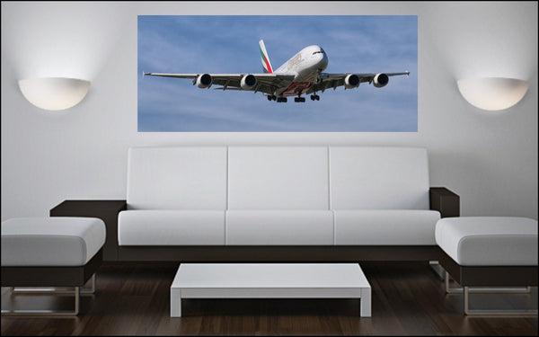 "Airbus A-380 72"" x 30"" Giant Image Wall Art"