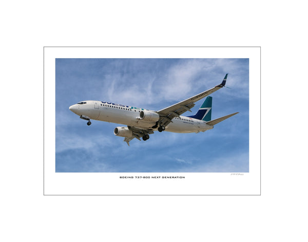 """Boeing 737-800"""" Fine Art Aviation Print"