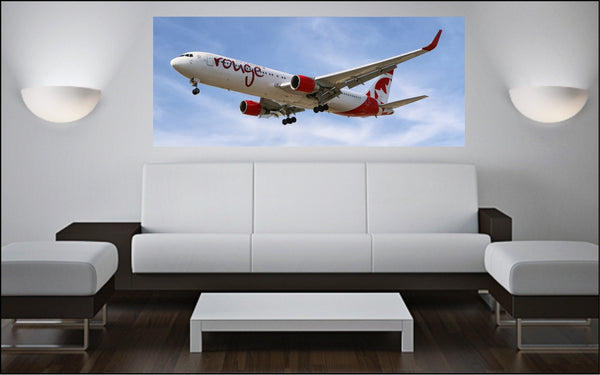 "Boeing 767 72"" x 30"" Giant Image Wall Art"