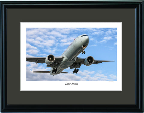 """Boeing 777-300ER"" Fine Art Aviation Print (Version B)"