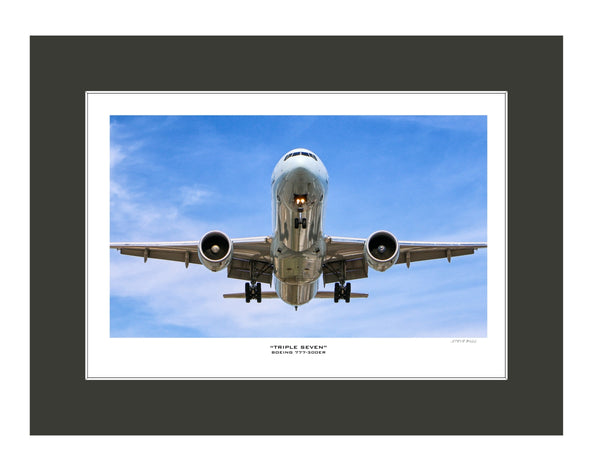 """Boeing 777-300ER"" Fine Art Aviation Print (Version C)"