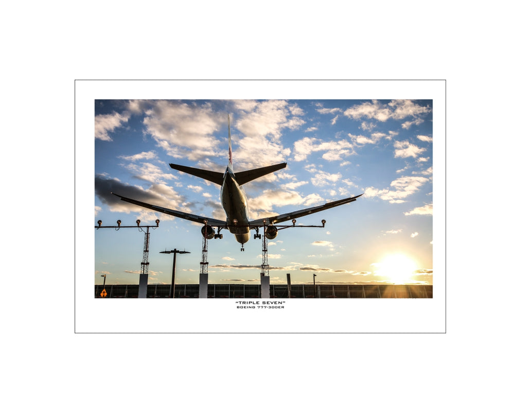 """Boeing 777-300ER"" Fine Art Aviation Print (Version A)"