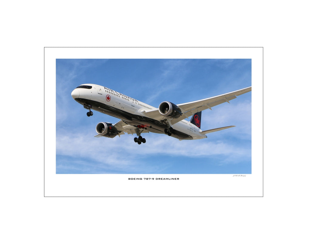 """Boeing 787-9 Dreamliner"" Fine Art Aviation Print (Version A)"