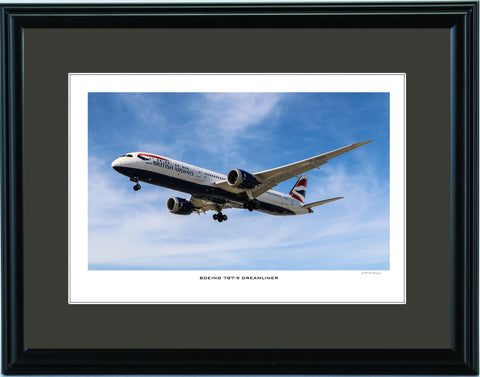 """Boeing 787-9 Dreamliner"" Fine Art Aviation Print (Version B)"