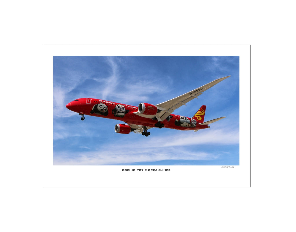 """Boeing 787-9 Dreamliner"" Fine Art Aviation Print (Version C)"