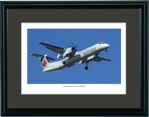 """Bombardier Dash 8-Q402"" Fine Art Aviation Print"